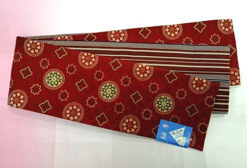 リバーシブル細帯 リバーシブル半巾帯 日本製