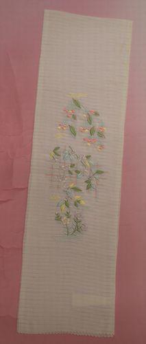 刺繍入り絽半衿 薄桜色 夏用半衿
