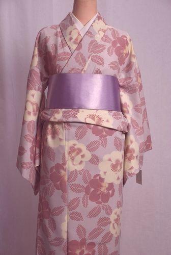 【染難あり】ひさかたろまんの洗える着物 Lサイズ 日本製