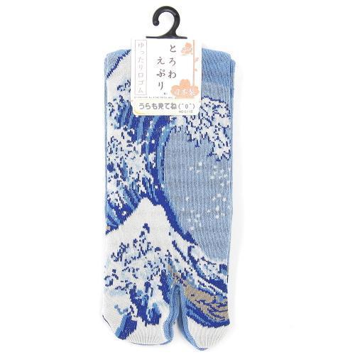 5503c652b75 KIMONO BENIYA  Product made in tabi socks Hokusai Fuji pattern Japan ...