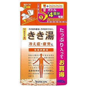 きき湯 食塩炭酸湯 つめかえ用 480g【医薬部外品】