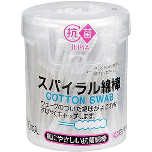 耳 鼻 口などのお手入れに 100本入り ●日本正規品● 抗菌綿棒 購買 スパイラル綿棒