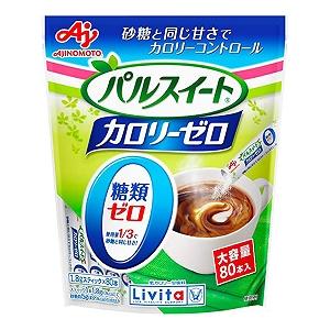 カロリーゼロ・糖類ゼロの甘味料 パルスイート カロリーゼロ 1.8g×80本入