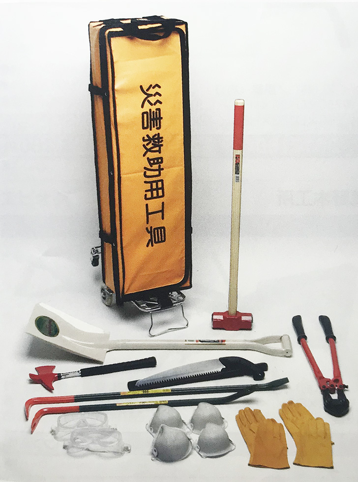 ◆防災士・消防設備士監修 E.R.R.S 災害救助工具セットS (自衛消防隊/作業員2名用)