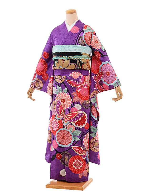 K-bridal | Rakuten Global Market [Coming of age ceremony kimono] purple long-sleeved kimono ...