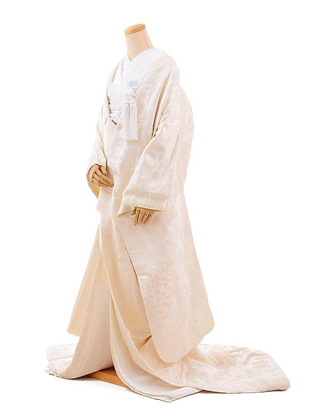 【レンタル】白無垢 レンタル E160 鶴 孔雀|☆新品足袋プレゼント☆|結婚式|白無垢レンタル|着物 レンタル|花嫁衣裳レンタル|白無垢フルセットレンタル
