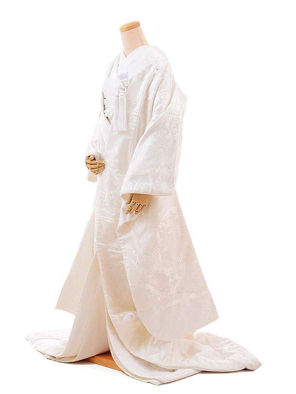 【レンタル】白無垢 レンタル E161 孔雀 ぼたん スパンコール|☆新品足袋プレゼント☆|結婚式|白無垢レンタル|着物 レンタル|花嫁衣裳レンタル|白無垢フルセットレンタル