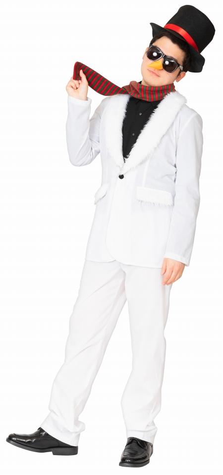 【スノーマン コスプレ メンズ】 スタイリッシュスノーマン [サンタ コスプレ スノーマン 男性用 コスチューム クリスマス 衣装 イベント サンタ 雪だるま 仮装 メンズ]【 888666】|はぴキャラ