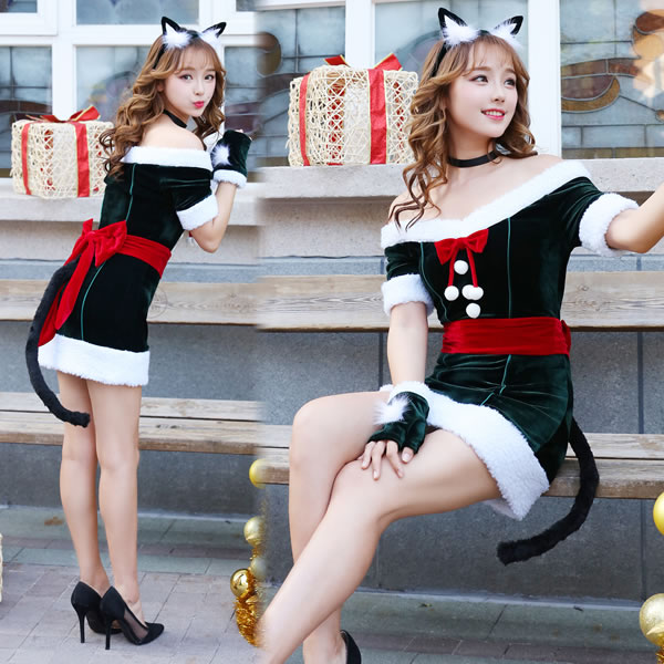 [サンタ コスプレ レディース] Malymoon ねこサンタ [サンタ コスプレ サンタ衣装 サンタクロース コスチューム レディース かわいい 女性用 大人 クリスマス]【400652】