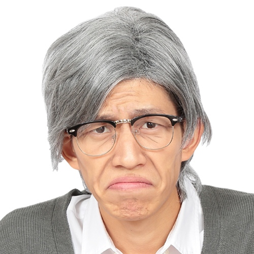 おじいさん カツラ 白髪 サラリーマン コスプレ 執事 司会 コント お笑い おもしろカツラ 高い素材 かつら 新品 イベント 白髪おじいさん じいさん 男装 なりきり衣装 カツランド C-0257_863397 メンズウィッグ