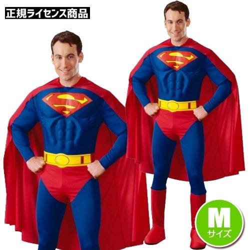 アダルト・デラックス・スーパーマン(M)(男性用コスチューム)(Adult Dx. Superman M)【801664】