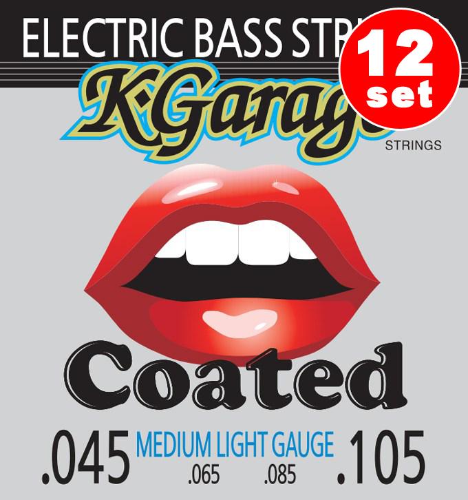 K-Ggarage B/G 45-105HQC Bass ミディアムライトゲージ (45-105) 《ベース弦/コーティング弦》【12セット】【送料無料】