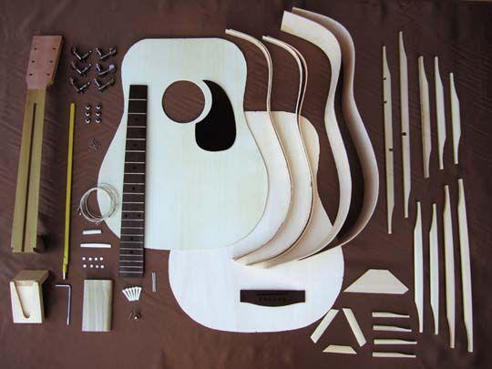 HOSCO GR-KIT-D2 フォークギターキット マホガニー 《フォークギター組み立てキット》【送料無料】