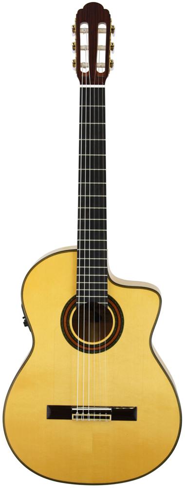 Aria アリア A-120F-CWE ピックアップ付きフラメンコギター【送料無料】【smtb-u】