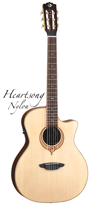 Luna Guitars Heartsong nylon select top, mahog usb 《クラシックギター》【送料無料】