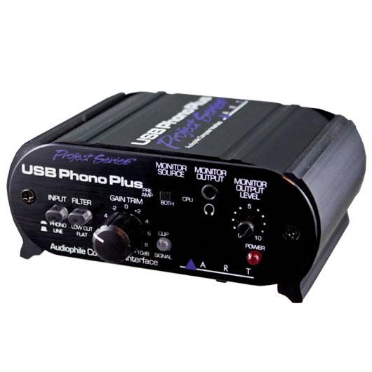 ART USB Phono Plus Project Series〔ACPHUSBPS〕《フォノ・プリアンプ搭載USBオーディオ・インターフェイス》【送料無料】【smtb-u】