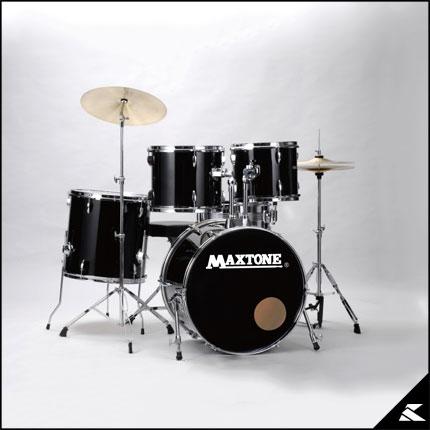 MAXTONE MX-116 BLK (JET BLACK)《お薦め入門ドラムセット》【送料無料】
