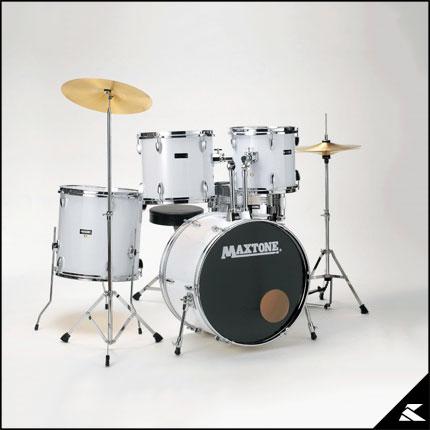MAXTONE MX-116 WHT (WHITE)《お薦め入門ドラムセット》【送料無料】【次回入荷分・ご予約受付中】