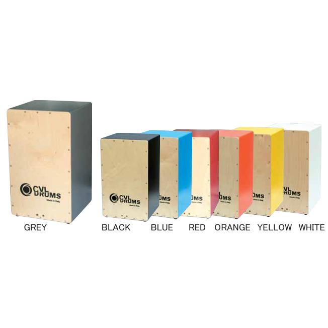 CVL DRUMS BASIC (GREY/BLACK/BLUE/RED/ORANGE/YELLOW/WHITE)《カホン》【送料無料】