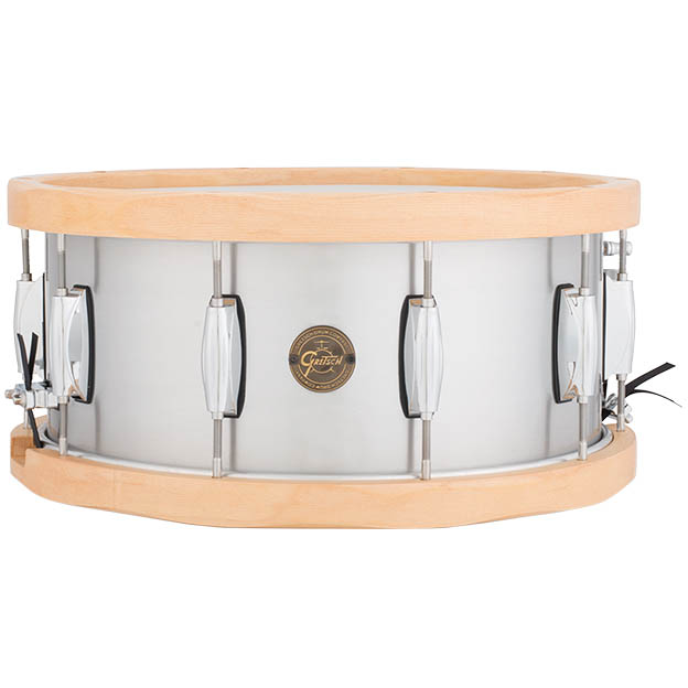 Gretsch Drums Aluminum / Wood Hoop Snare S1-6514A-WH (14