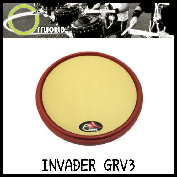 OFFWORLD Percussion INVADER GRV3 練習用 ドラムパッド【送料無料】【sntb-u】