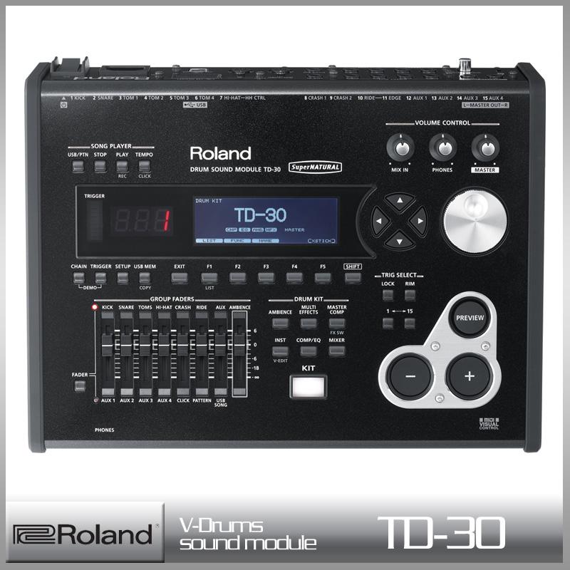Roland TD-30 《Vドラム・サウンド・モジュール》ローランド V-Drums【送料無料】【smtb-u】