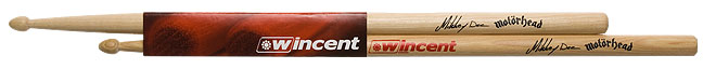 Wincent Drumsticks Motorhead Mickkey Dee Signature(Selected US Hickory) W-MDS ドラムスティック 【10セット】 【送料無料】 【smtb-u】