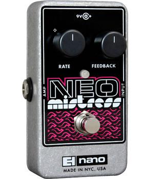 超激安特価 よりコンパクト より扱いやすい 新 ミストレス フランジャー Electro 信憑 Neo Harmonix エレクトロハーモニクス Mistress 送料無料 ネオ