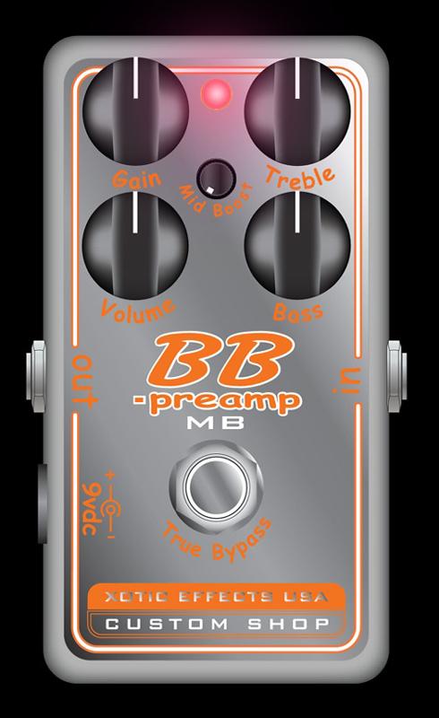 Xotic BBP-MB 【BB-Preampにミッドブースター搭載モデル】