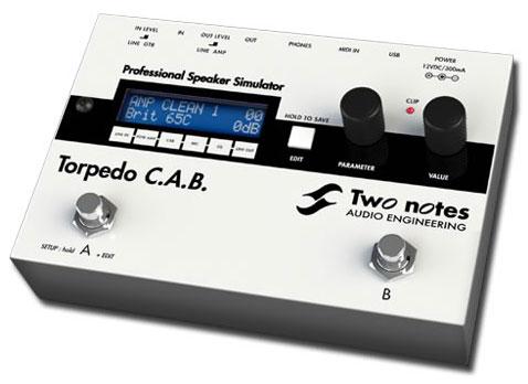 Two Notes Torpedo C.A.B.《スピーカー・キャビネット・シミュレーター》【送料無料】【smtb-u】