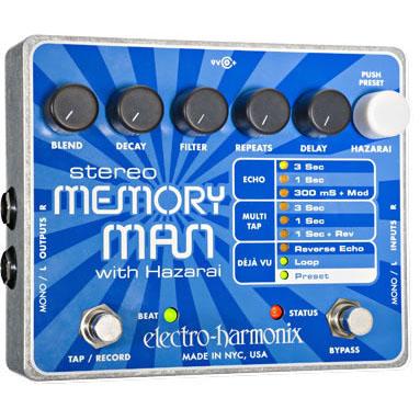 Electro-Harmonix Stereo Memory Man with Hazarai Digital Delay/Looper《エフェクター/ディレイ/ルーパー》【送料無料】