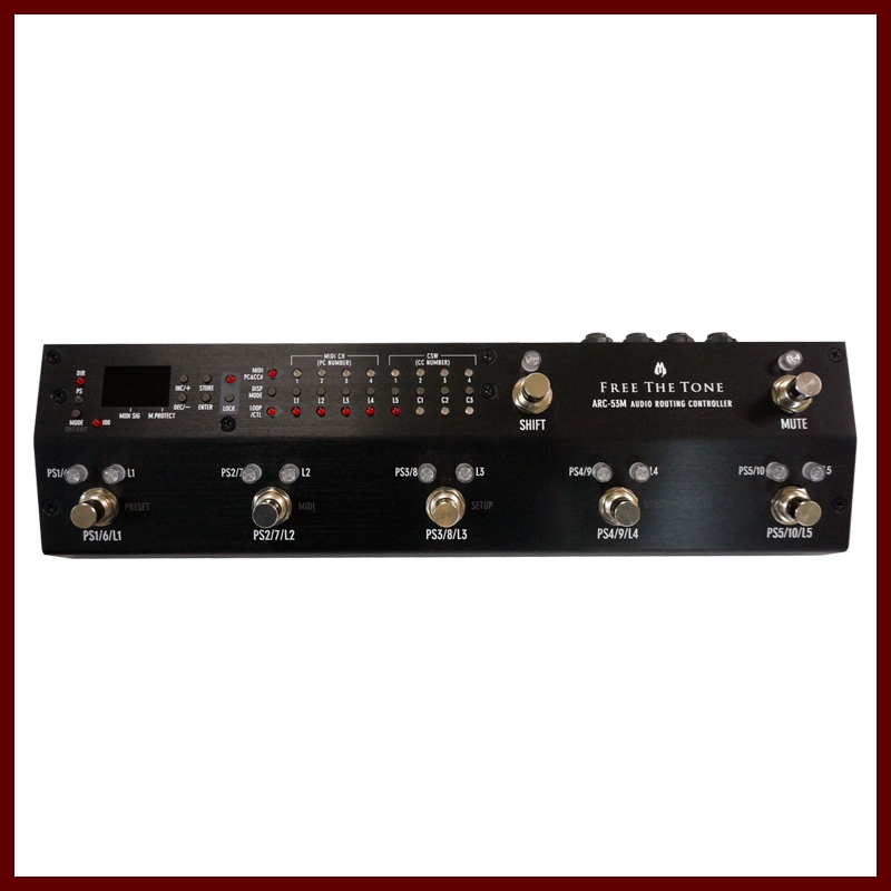 Free The Tone ARC-53M AUDIO ROUTING CONTROLLER (Black) 《スイッチャー》【送料無料】【受注生産品】
