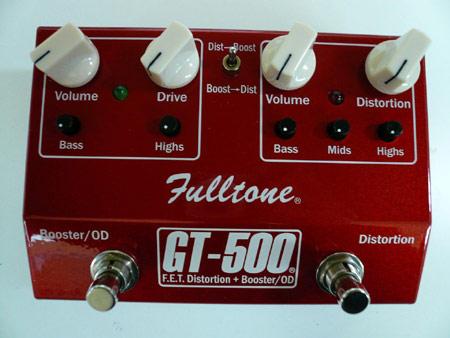 Fulltone GT-500 [F.E.T.Distortion + Booster/OD] (RED Version) 《エフェクター/ディストーション/オーバードライブ/ブースター》【送料無料】【smtb-u】