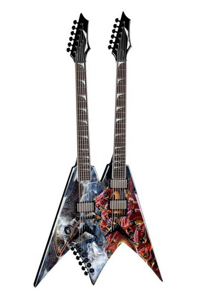 DEAN V Dave Mustaine Double Neck (Diadem w/c)[VMNT DBL DIADEM]【送料無料】