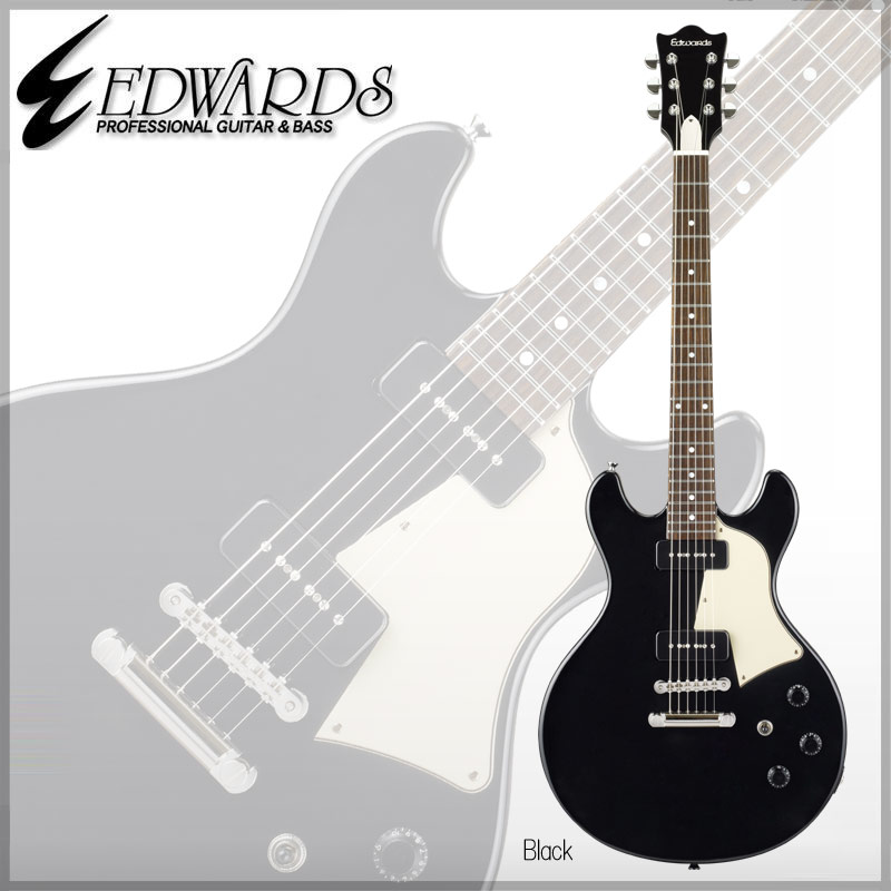 【エレキギター】《エドワーズ》 Edwards Artist Series E-Bricoleur(Black) [ 菅原卓郎 / 9mm Parabellum Bullet ]【送料無料】