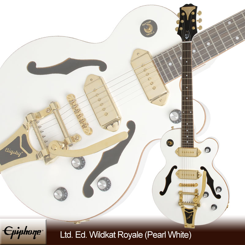 Epiphone Ltd. Ed. Wildkat Royale with Bigsby Tremolo (Pearl White)[ETBKPWGB3](送料無料)
