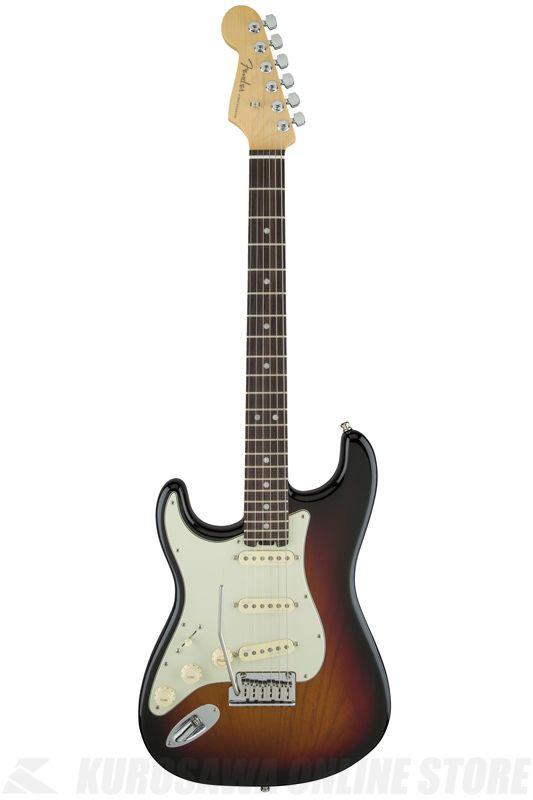 Fender American Elite Stratocaster Left-Hand, Rosewood Fingerboard, 3-Color Sunburst《エレキギター》【ご予約受付中】