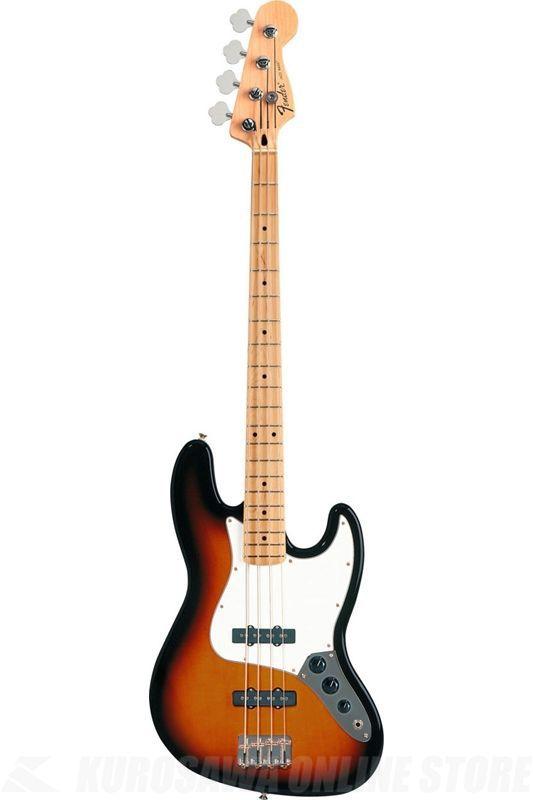 Fender Standard Series / Standard Jazz Bass, Maple Fingerboard, Brown Sunburst, 3-Ply Parchment Pickguard《ベース》