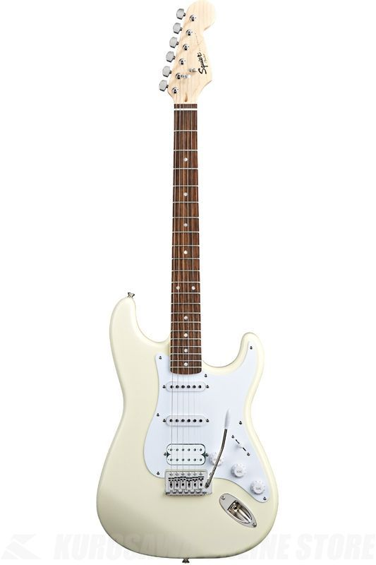 SQUIER Bullet Series / Bullet Strat with Tremolo HSS, Rosewood Fingerboard, Arctic White《エレキギター》