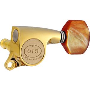 Gotoh / ゴトー SG510 Series for Standard Post SGS510Z (Gold / P8) [対応ヘッド: L6/R6/L3+R3] 《ギターペグ6個set》 【送料無料】