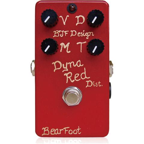 BearFoot Guitar Effects Dyna Red Dist. 4ノブ《エフェクター/ディストーション》【送料無料】【お取り寄せ】