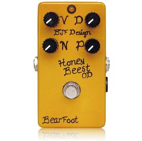 BearFoot Guitar Effects Honey Beest Custom《エフェクター/オーバードライブ》【送料無料】【納期未定・ご予約受付中】