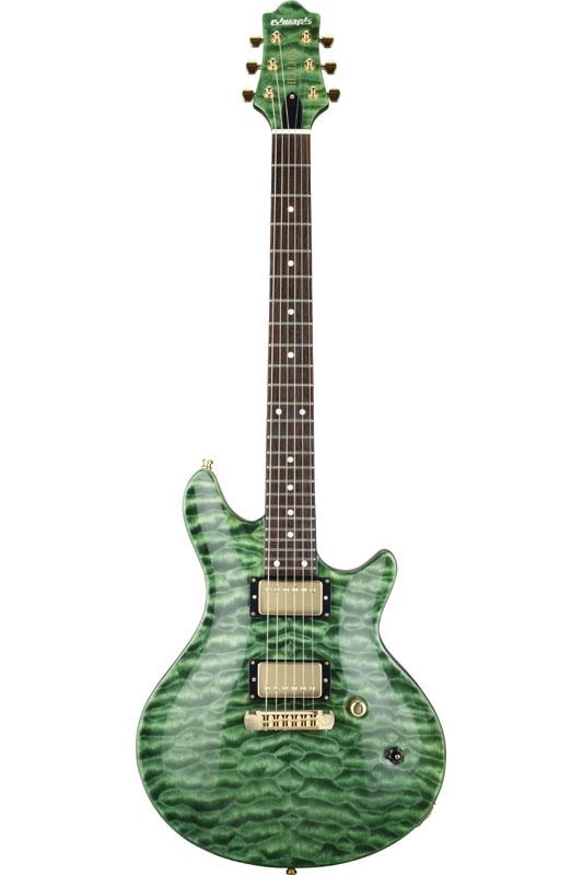 【エレキギター】《エドワーズ》 EDWARDS E-U-140-HL2 [ The GazettE / 麗 ] ガゼット (Malachite Green)《エレキギター》【送料無料】