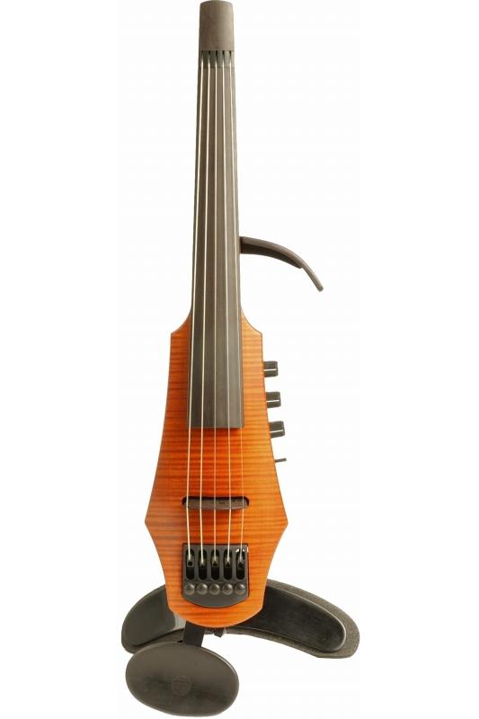 NS Design CR5-AM CR Violin 5st Amber Solid-body, Polar PU, Dual Mode Preamp 《エレキバイオリン》 【送料無料】