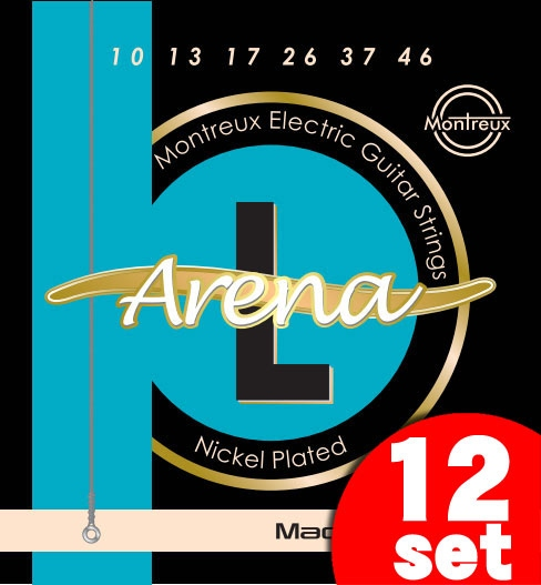 Montreux Electric Guitar Strings Extra Light Gauge Arena-L (10-46)《エレキギター弦》【12セット】【送料無料】