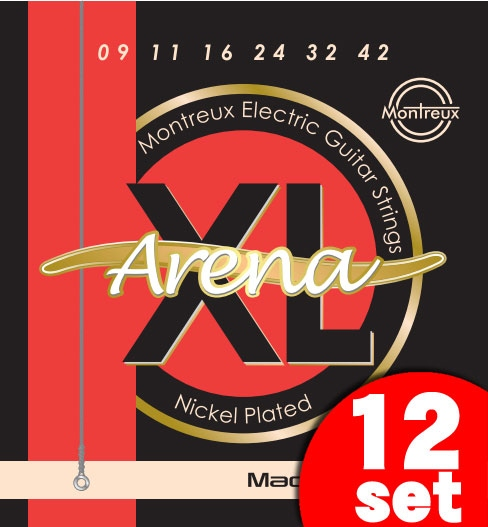 Montreux Electric Guitar Strings Extra Light Gauge Arena-XL (09-42) 《エレキギター弦》【12セット】【送料無料】