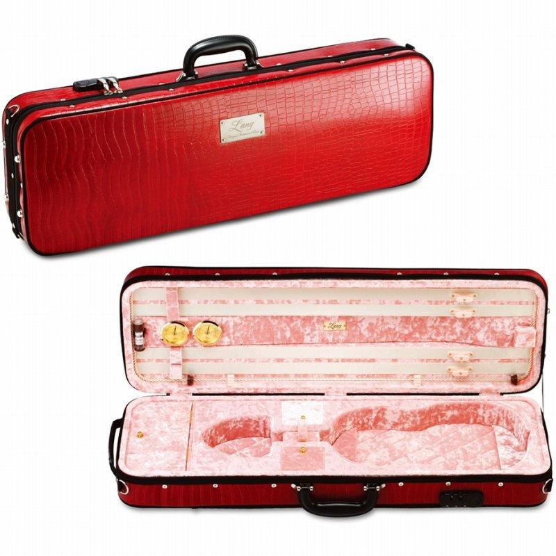 バイオリンケース 《ラング》 Lang SAシリーズ 日本未発売 SA-53:外装:バーガンディ 送料無料 《バイオリンケース》 内装:ピンク ご予約受付中 在庫処分