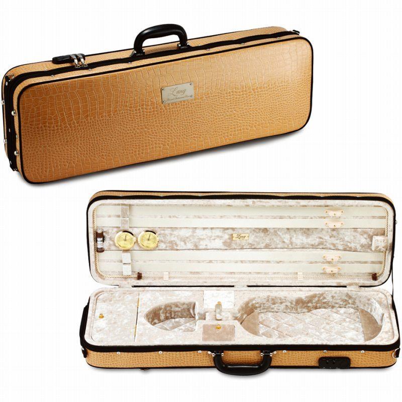 バイオリンケース セール アウトレットセール 特集 《ラング》 Lang SAシリーズ SA-56:外装:ベージュ 送料無料 《バイオリンケース》 内装:ベージュ 予約受付中