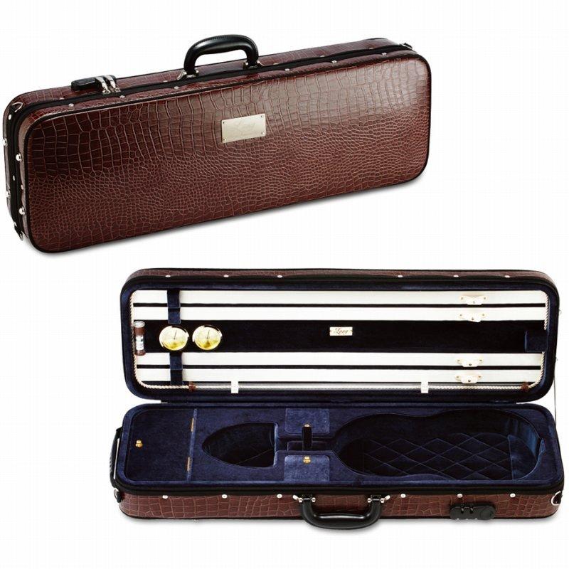 バイオリンケース 《ラング》 Lang 超定番 SAシリーズ SA-58:外装:チョコブラウン 送料無料 内装:ダークグレー ご予約受付中 《バイオリンケース》 日本最大級の品揃え