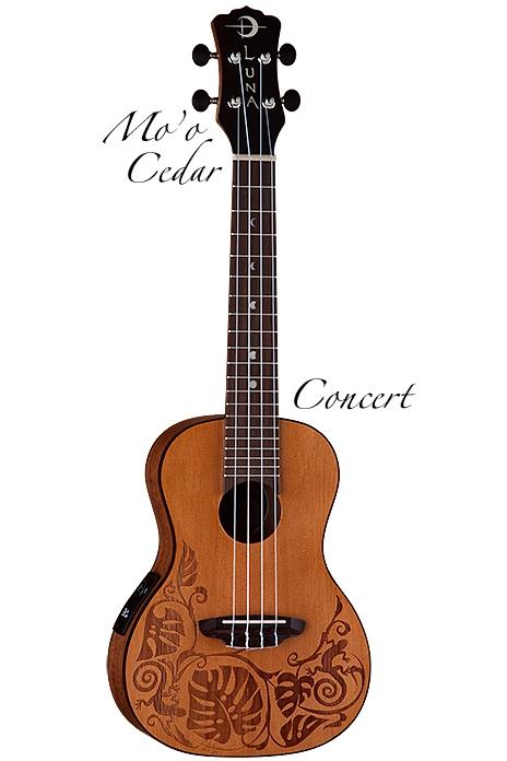 Luna Guitars Mo'o Concert Cedar [UKE MO CDR] 《コンサートウクレレ》【送料無料】【ご予約受付中】